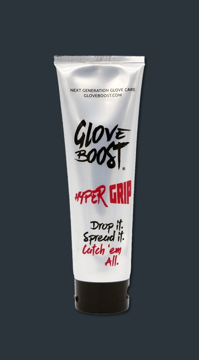 Acts as mega booster on moistened glove palms